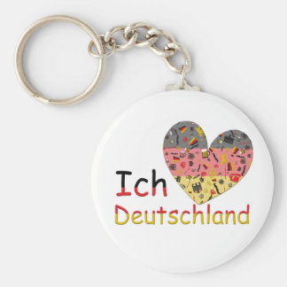 Pride of Germany Basic Round Button Key Ring