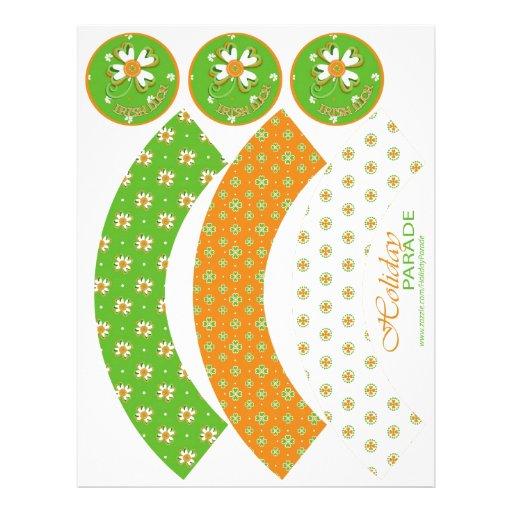 Pride of Ireland Cupcake Wrappers Custom Flyer