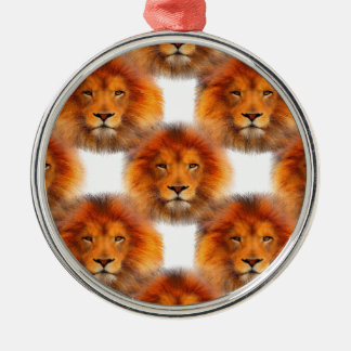 Pride of Lions Silver-Colored Round Decoration