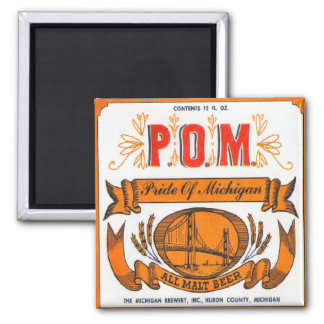Pride Of Michigan Malt Beer Magnet