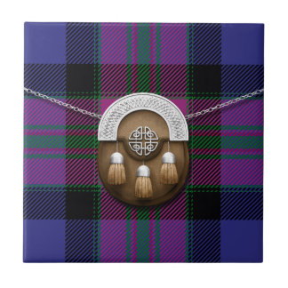 Pride Of Scotland Fashion Tartan And Sporran Tile