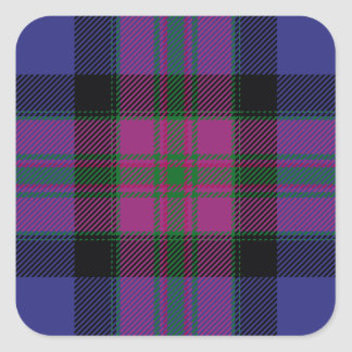 Pride Of Scotland Fashion Tartan Square Sticker
