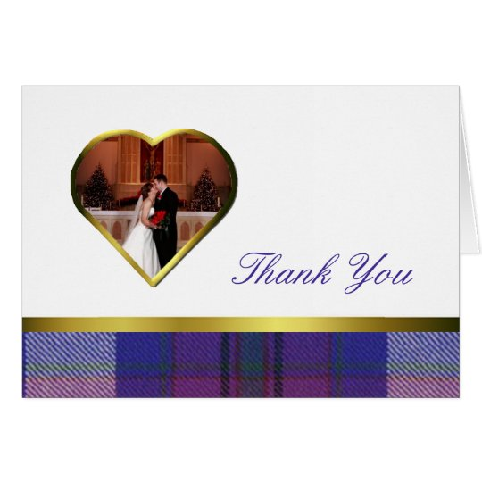 Pride of Scotland Heart Photo Thank You Card