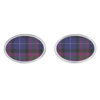 Pride of Scotland Tartan Plaid Cuff Links Silver Finish Cuff Links