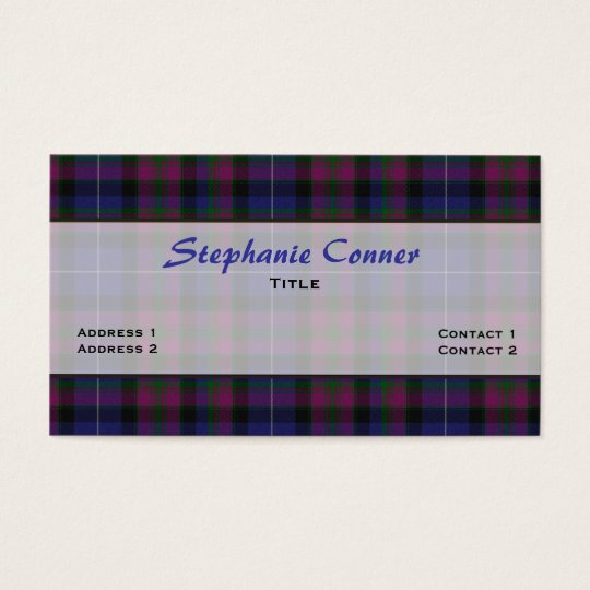 Pride of Scotland Tartan Plaid Custom Business Card