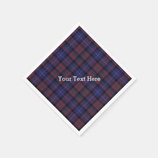 Pride of Scotland Tartan Plaid Paper Napkins Disposable Napkin