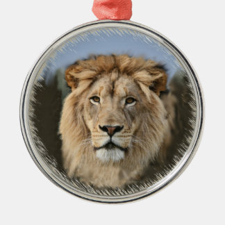 Pride of The Lion Silver-Colored Round Decoration