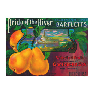 Pride of the River Pear Crate LabelLocke, CA Canvas Print