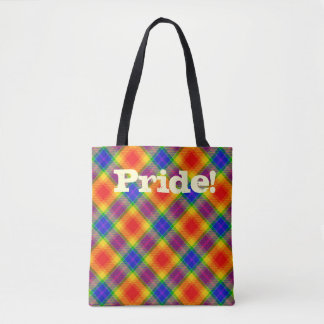 Pride Plaid Tote Bag