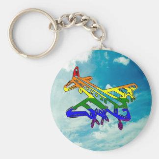 Pride Plane Key Ring