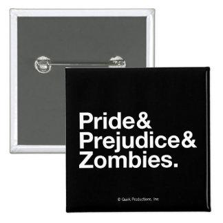 Pride & Predjudice & Zombies 15 Cm Square Badge
