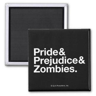 Pride & Predjudice & Zombies Square Magnet