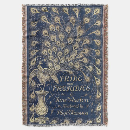 Pride & Prejudice Antique Cover Woven Throw