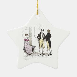 Pride & Prejudice Elizabeth Slighted by Mr. Darcy Christmas Ornament