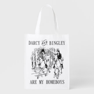 Pride & Prejudice Mr. Darcy & Mr. Bingley tote bag