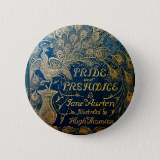 Pride & Prejudice Peacock Button