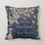 Pride & Prejudice Peacock Pillow