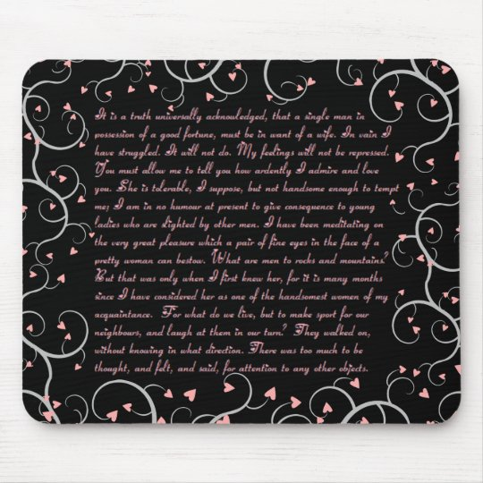 Pride & Prejudice Quotes Mousepad