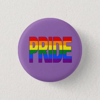 pride rainbow 3 cm round badge
