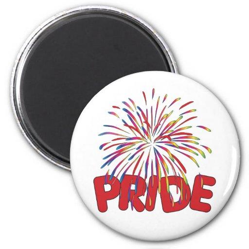 Pride Rainbow Fireworks Refrigerator Magnets