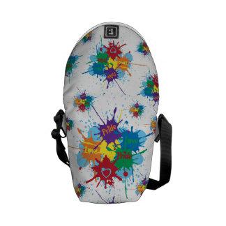 Pride Rainbow Splatter Mini Messenger Bag