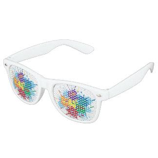 Pride Rainbow Splatter Retro Party Shades