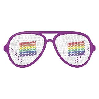 Pride Rainbow Wedding Cake Slice Party Favors Aviator Sunglasses