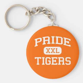 Pride - Tigers - High School - Huron South Dakota Basic Round Button Key Ring
