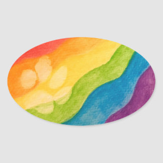 Pride With Every Paw Oval Oval Sticker