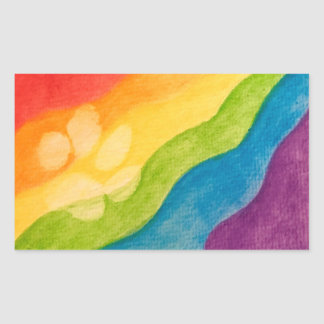 Pride With Every Paw Rectangle Rectangular Sticker