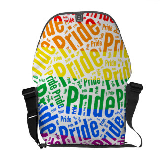 PRIDE WORD PATTERN COLOR - png Courier Bags