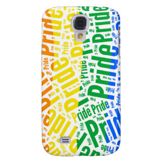 PRIDE WORD PATTERN COLOR -.png Galaxy S4 Cases