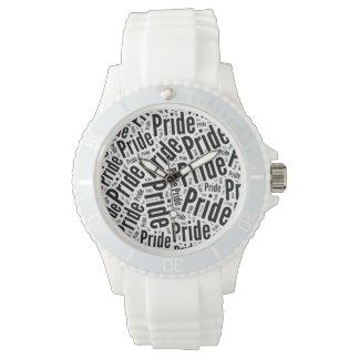 PRIDE WORDS BLACK - 2014 PRIDE.png Wristwatch