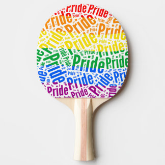PRIDE WORDS RAINBOW PING PONG PADDLE