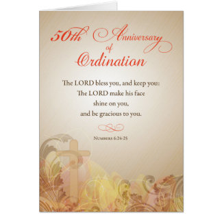 Priest, 50th Anniversary of Ordination Blessing Greeting Card