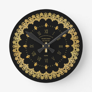 Priest 50th Golden Jubilee Ordained Anniversary Round Clock