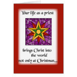 Priest Christmas Star Greeting Card