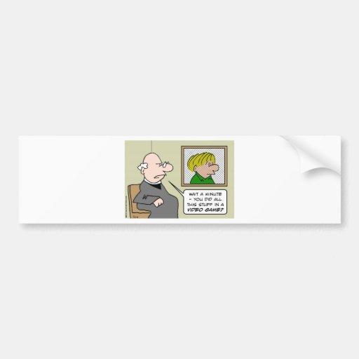 priest confessional video games bumper stickers