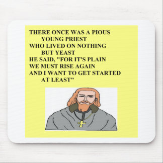 priest limerick humor mouse pad