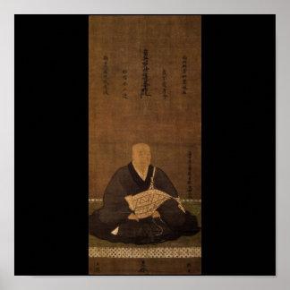 Priest Nisshin c 1400 s by Kano Masanobu Poster