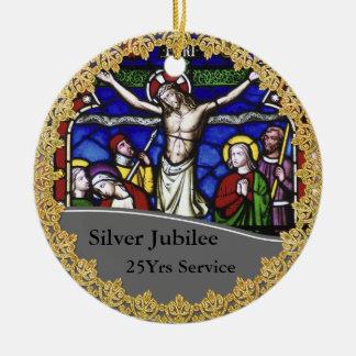 Priest Ordination 25th Anniversary Commemorative Christmas Ornament