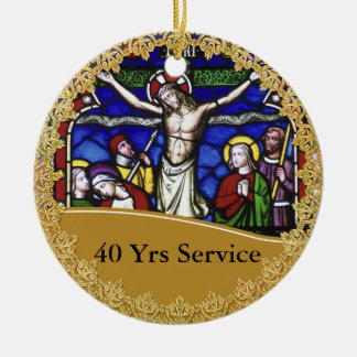 Priest Ordination 40th Anniversary Commemorative Christmas Ornament