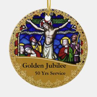 Priest Ordination 50th Anniversary Commemorative Christmas Ornament