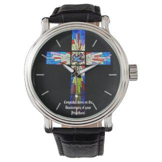 Priest Ordination Anniversary gift Cross Wristwatch