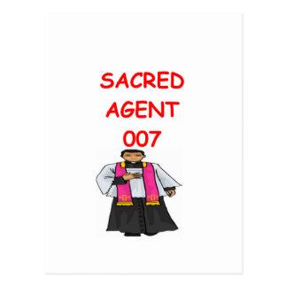 priest secret agent postcard
