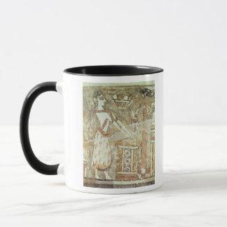 Priestess at an altar, detail from a mug