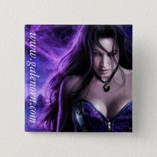 Priestess Dreaming Square Pin Badge