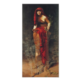 Priestess of Delphi Pre Raphaelite Poster