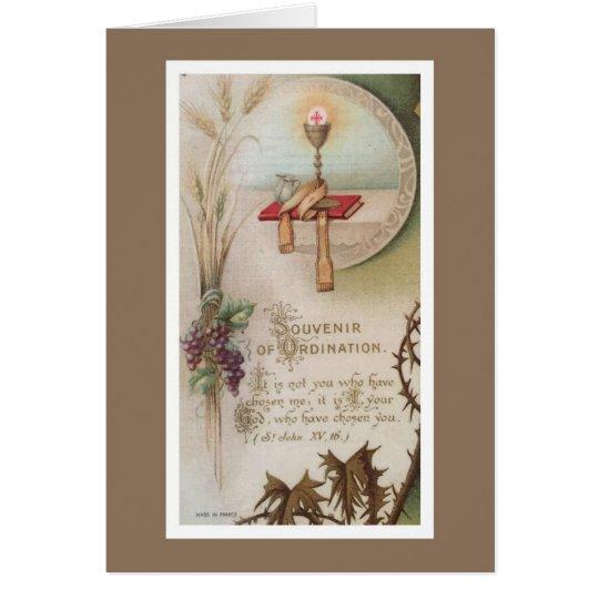 Priesthood Anniversary Priest Ordination Chalice Card