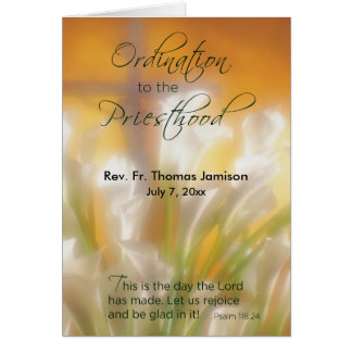 Priesthood Ordination, Customizable Name & Date, L Card